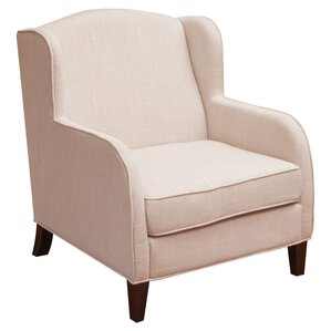 Pompano Fabric Wing back Chair by Home Loft Concepts