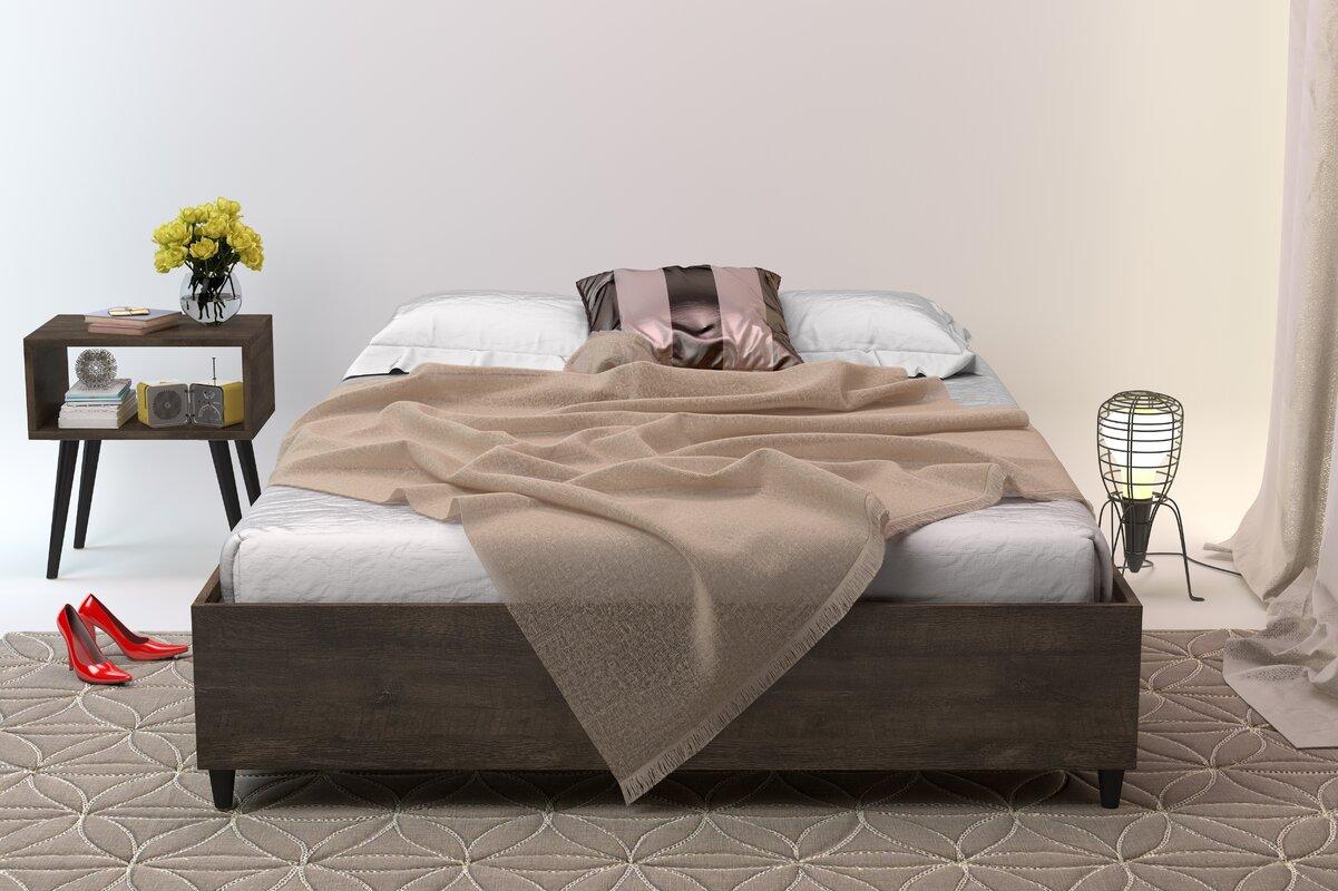 Queen platform bed frame - Norloti Queen Platform Bed