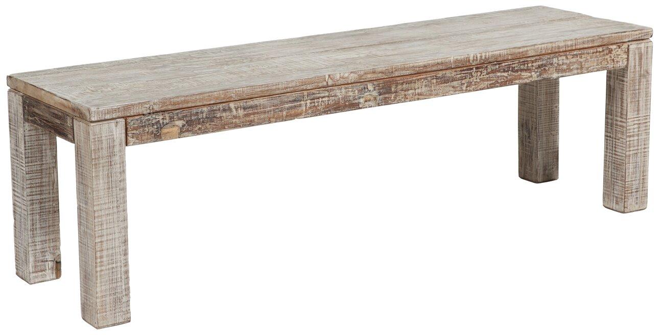 Mistana Arakaki Wood Bench Amp Reviews Wayfair