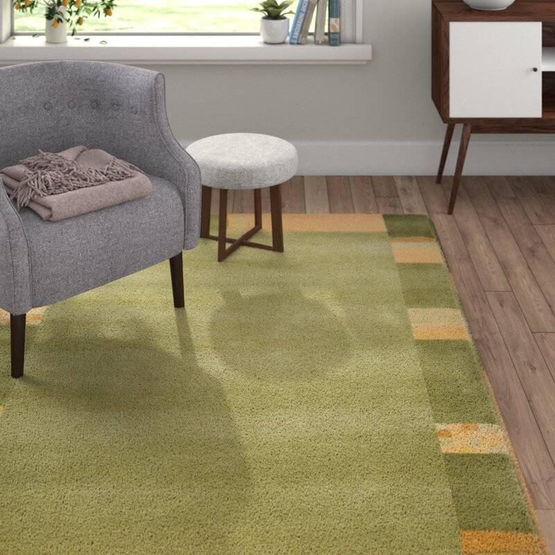 Theko Handgefertigter Teppich Harmony Aus Wolle In Grun Wayfair De
