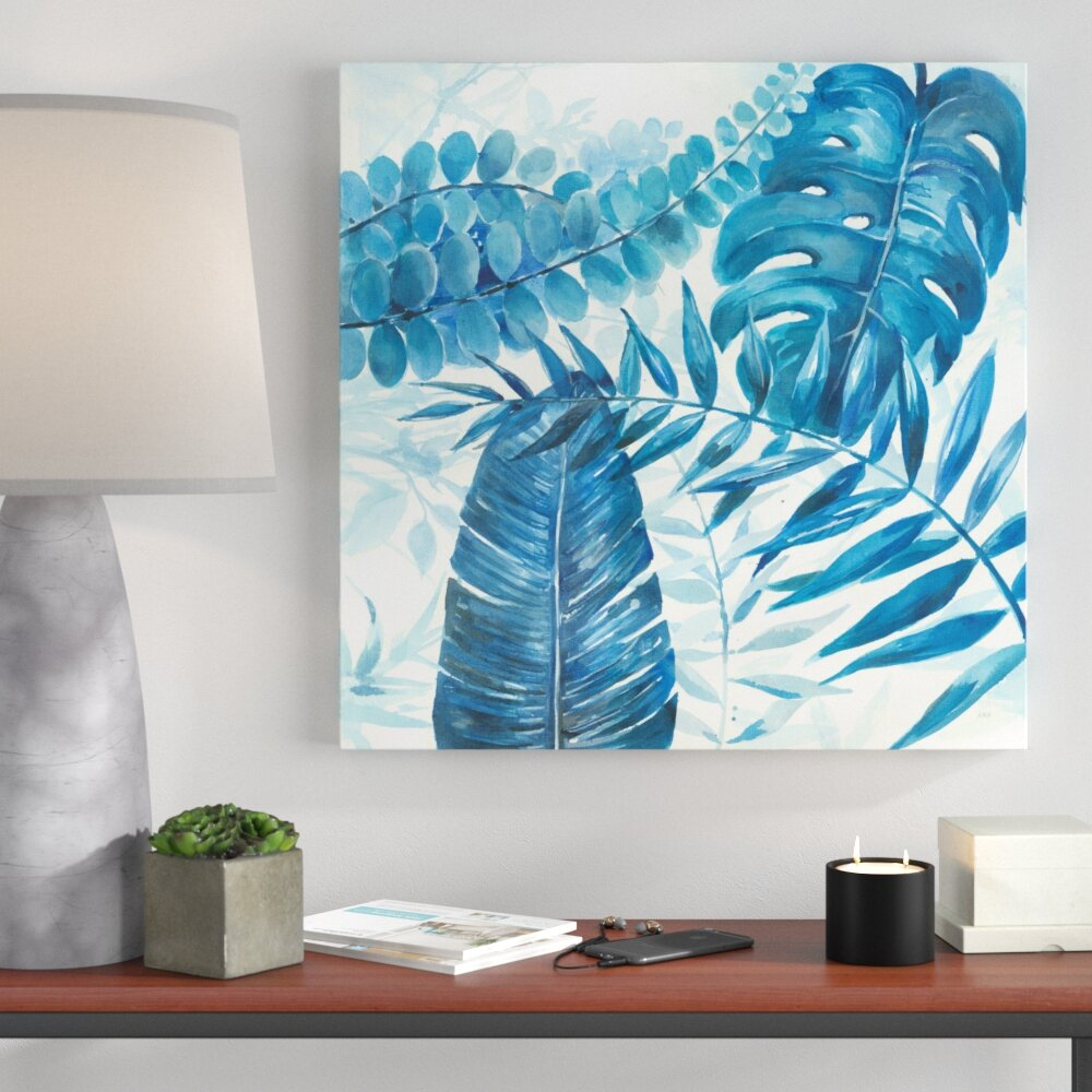 Bronx Blue Bedroom Project: Ivy Bronx 'Blue Branches' Acrylic Painting Print On Canvas