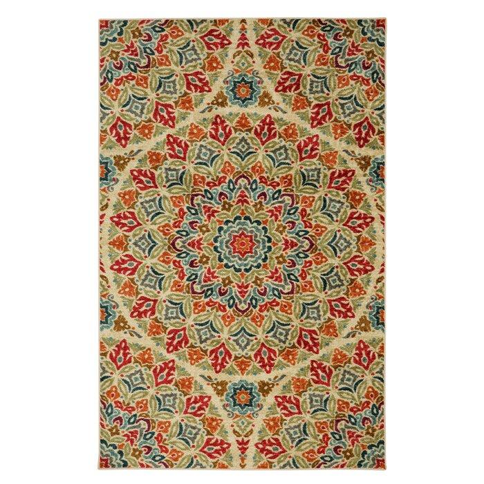 bungalow rose albion multicolor area rug & reviews | wayfair.ca