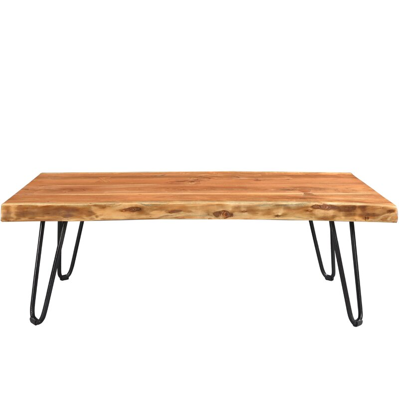 Union rustic kourtney sustainable live edge acacia coffee for Table queens acacia
