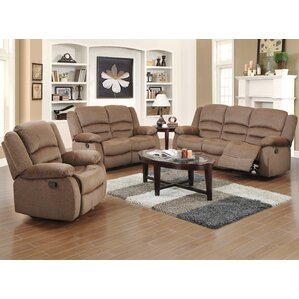 Maxine 3 Piece Living Room Set  sc 1 st  Wayfair & Reclining Living Room Sets Youu0027ll Love islam-shia.org