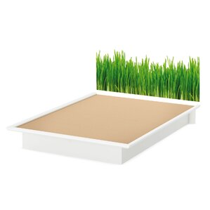 Step One Grass Headboard Queen Platform Bed by South Shore