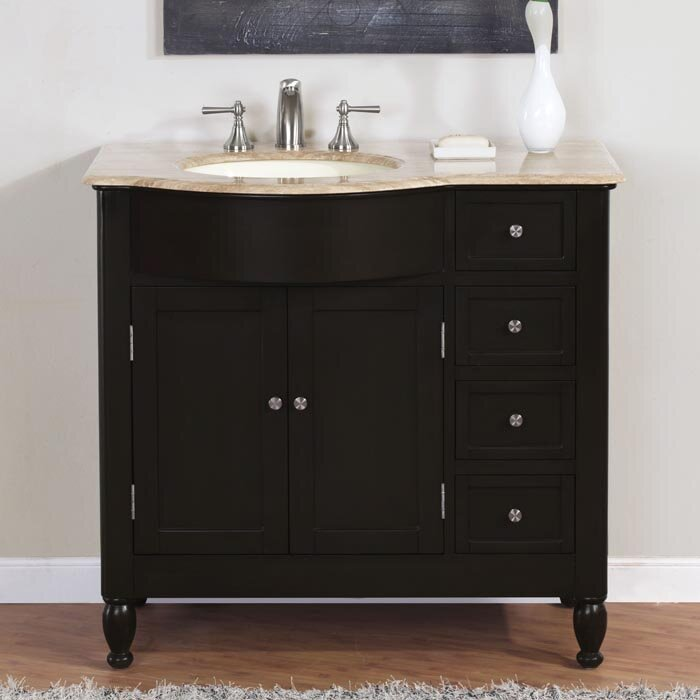 "Custom Bathroom Vanities Hamilton silkroad exclusive hamilton 38"" single bathroom vanity set"