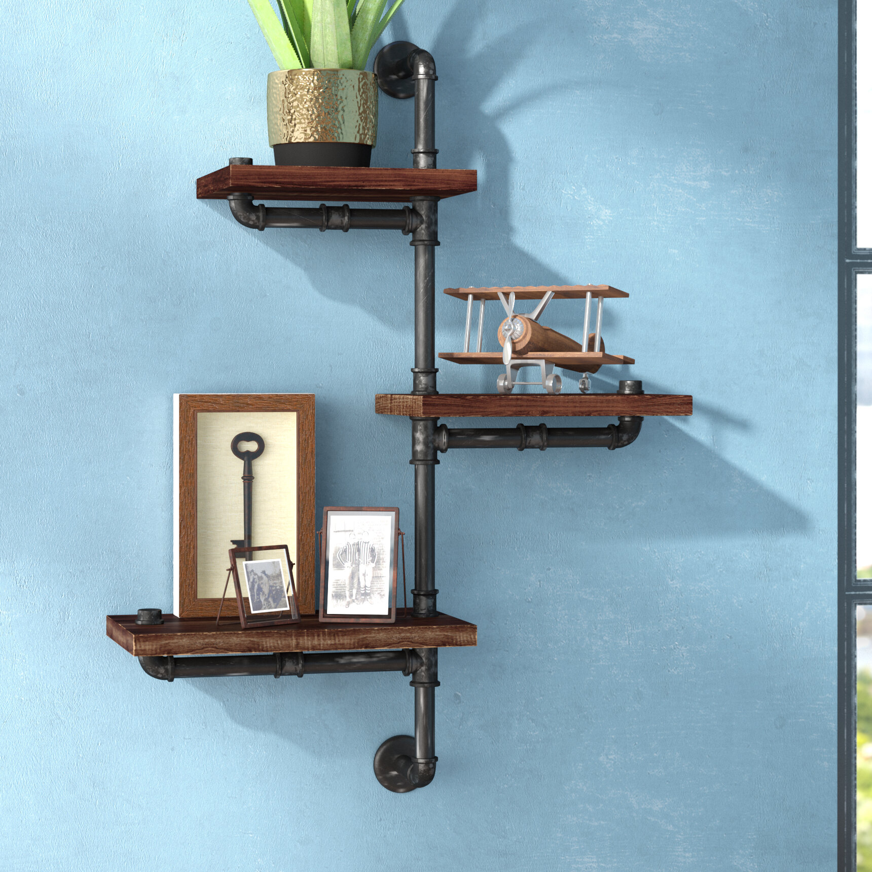 Trent Austin Design 3 Piece Floating Shelf & Reviews | Wayfair