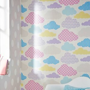 Marshmallow Clouds 33′ x 20.5″ Wallpaper Roll