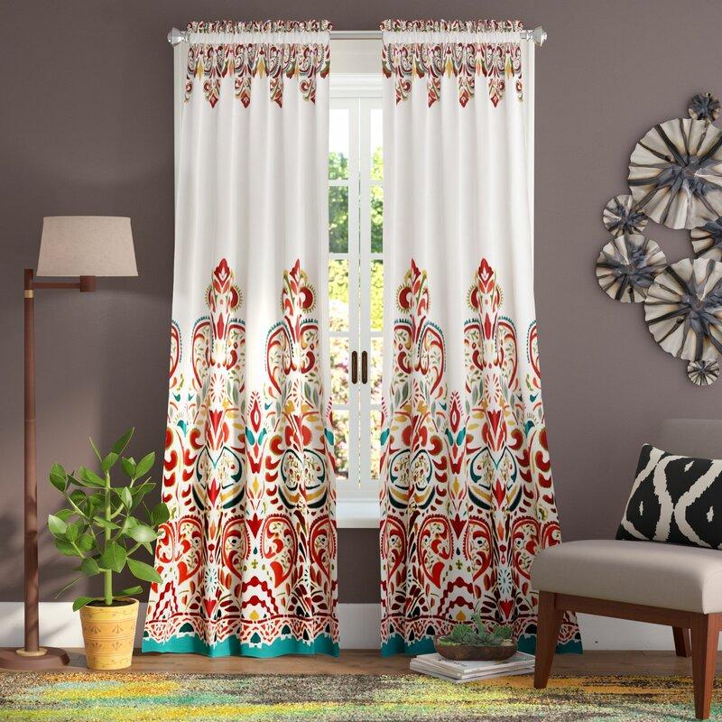 Powley Paisley Room Darkening Thermal Rod Pocket Curtain Panels