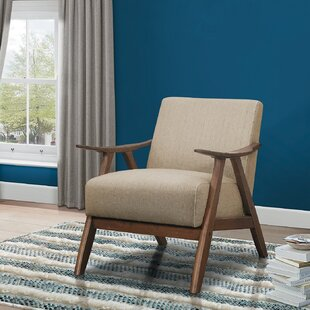 Accent Chair With Wood Arms Wayfair