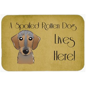 Wirehaired Dachshund Spoiled Dog Lives Here Kitchen/Bath Mat