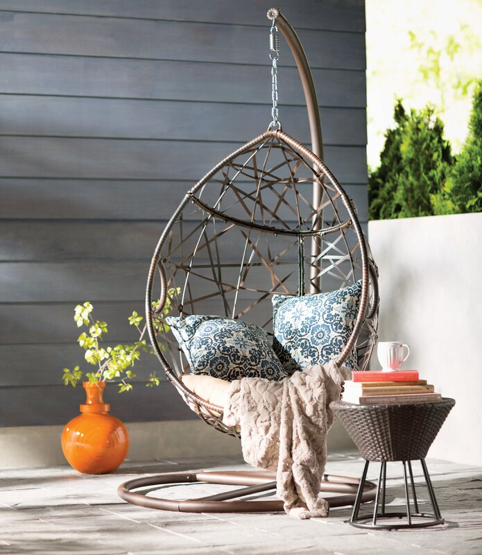 Mistana Destiny Tear Drop Swing Chair With Stand Amp Reviews