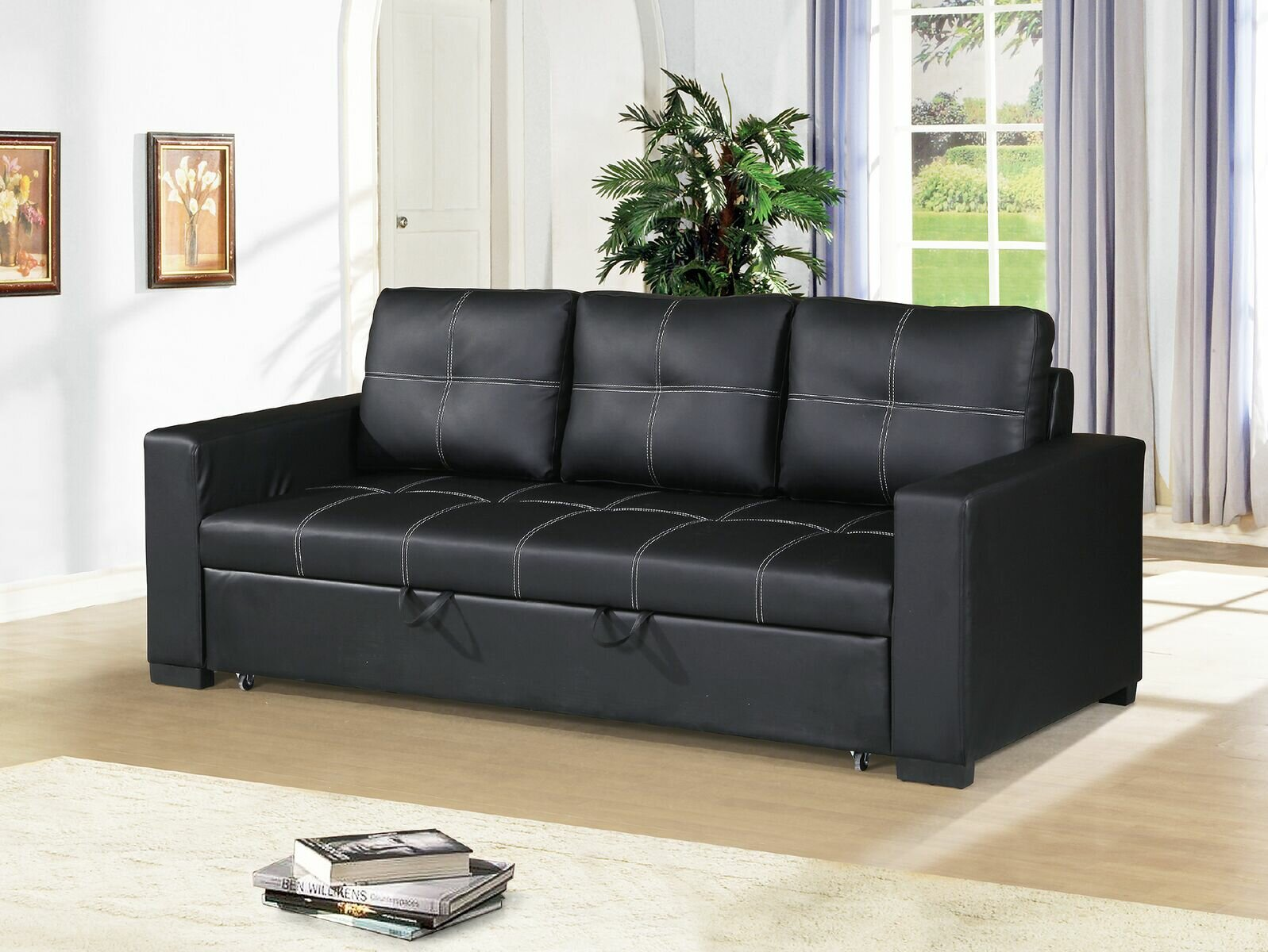 Wayfair | Latitude Run Clauderson Convertible Sofa