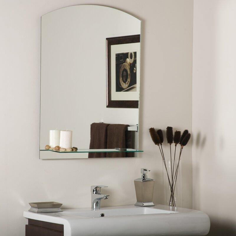 Arch Wall Mirror decor wonderland arch frameless wall mirror & reviews | wayfair