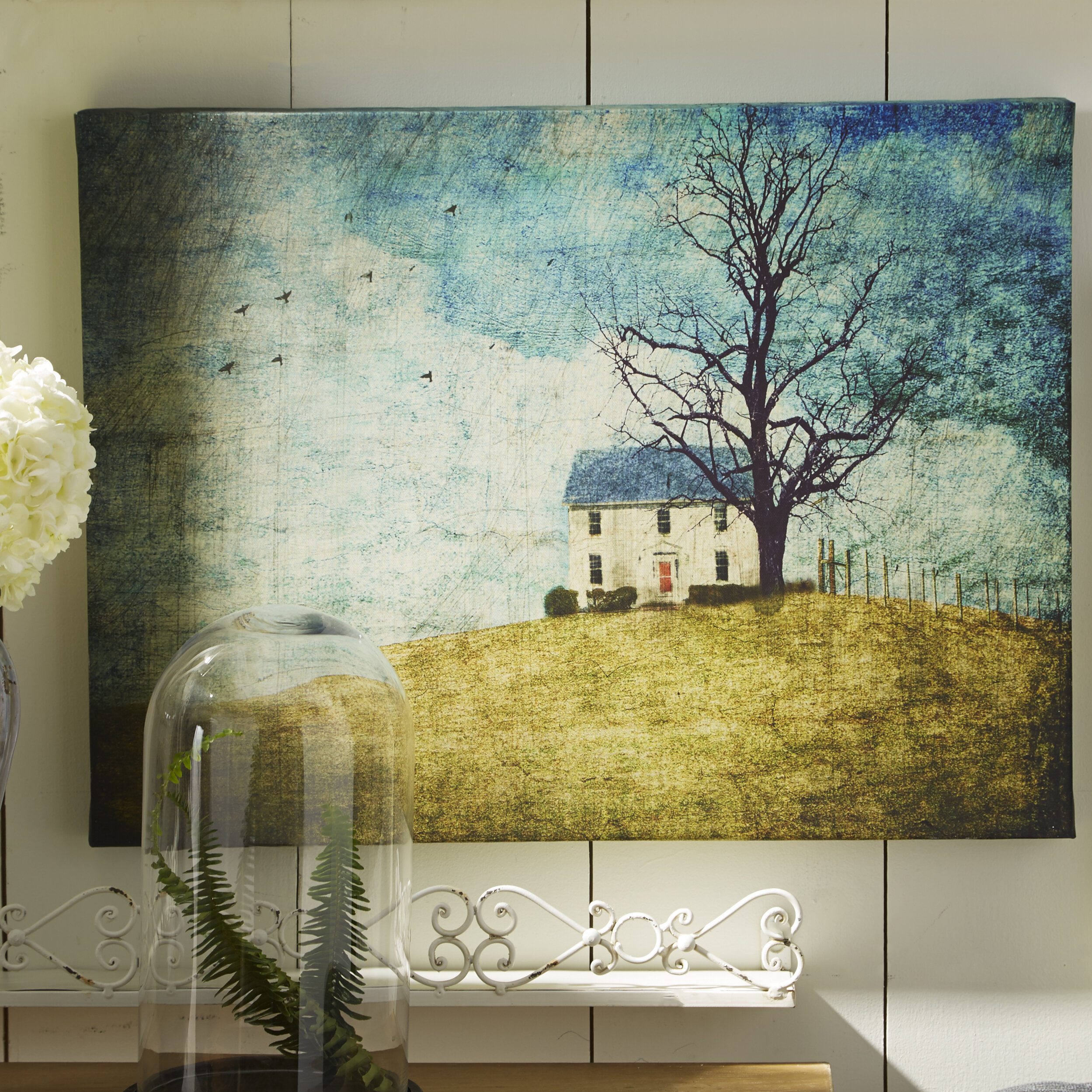 Courtside Market Farmhouse Canvas House On the Hill Painting Print ...