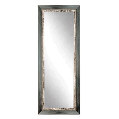 BrandtWorksLLC Weathered Full Length Wall Mirror Finish: Gray, Size: 55'' x 21.5'' x 1.5''
