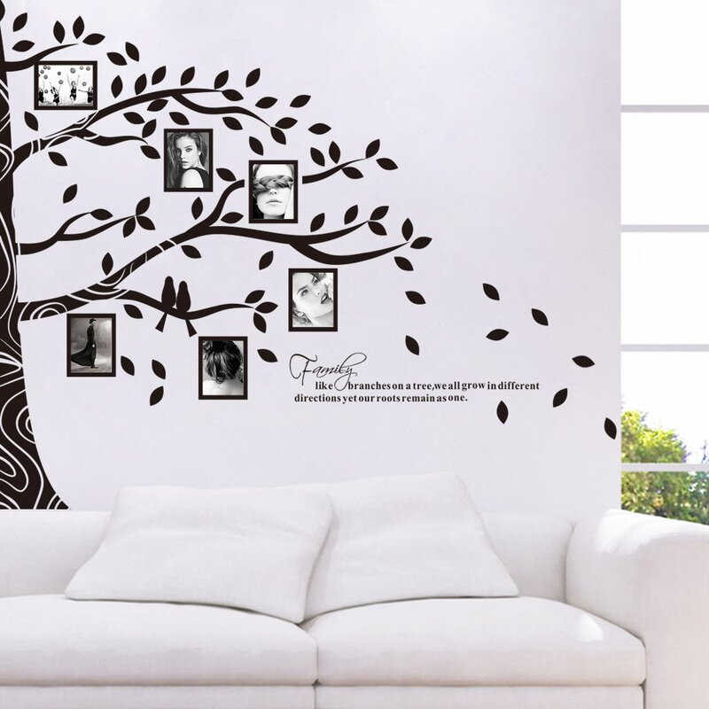RetailSource Tree Full of Frames Wall Decal | Wayfair