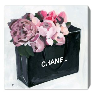 'Peony Bag Framed Graphic Art Print on Wrapped Canvas