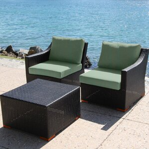 Marcelo 3 Piece Deep Seating Group with C..
