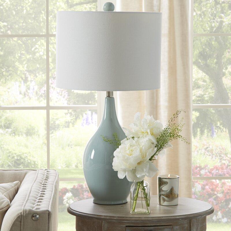 "mercury row miltiades 27"" table lamp  reviews  wayfairca"