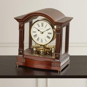 Traditional Brass Mantel Clock