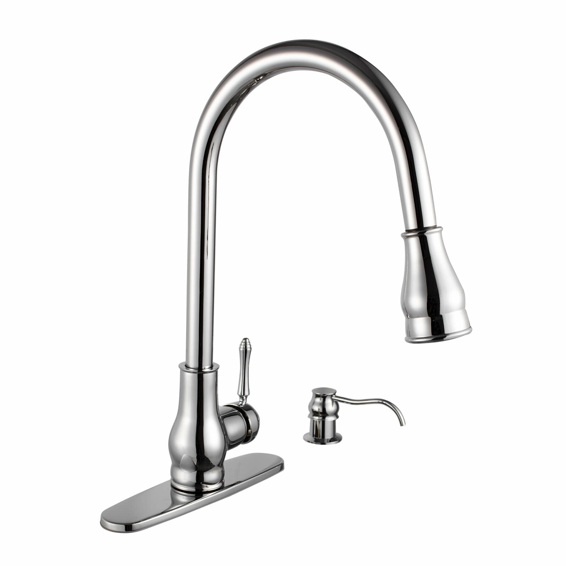 Maykke Brixton Single Handle Pull Down Standard Kitchen Faucet ...