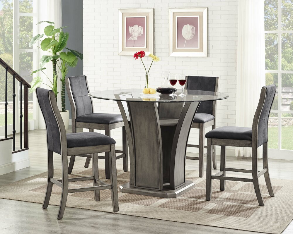 Ivy Bronx Christian 5 Piece Counter Height Dining Set Reviews