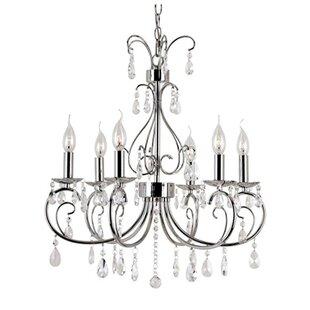 Victorian chandelier wayfair chic nouveau 6 light candle style chandelier mozeypictures Choice Image