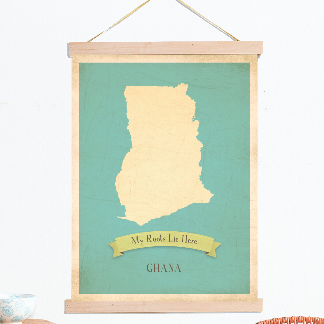 Children Inspire Design My Roots Ghana Personalized Map Tapestry ...