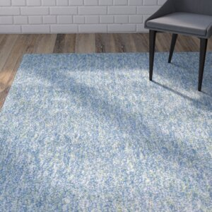 Bouvier Heather Hand-Woven Seafoam Area Rug