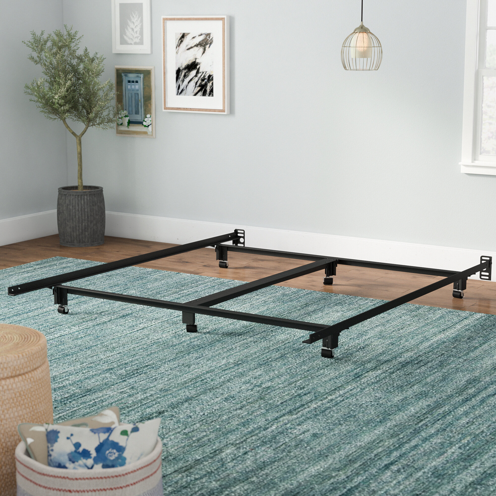 Symple Stuff Steelock Super Duty Bed Frame & Reviews | Wayfair