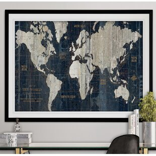 World map framed art youll love wayfair save gumiabroncs Image collections