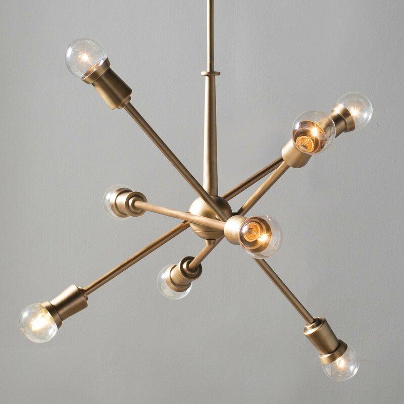 Wade Logan Modena 8-Light Sputnik Chandelier & Reviews | Wayfair