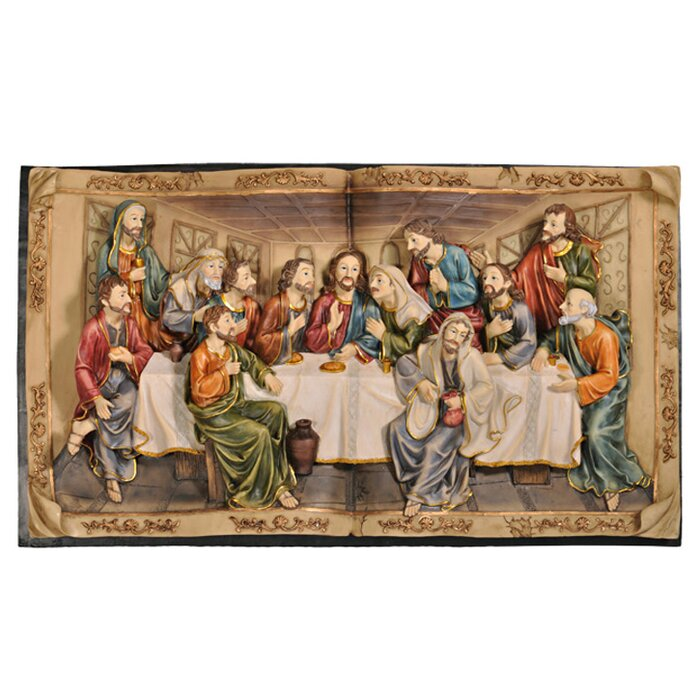 The Last Supper 3 D Plaque Wall Décor