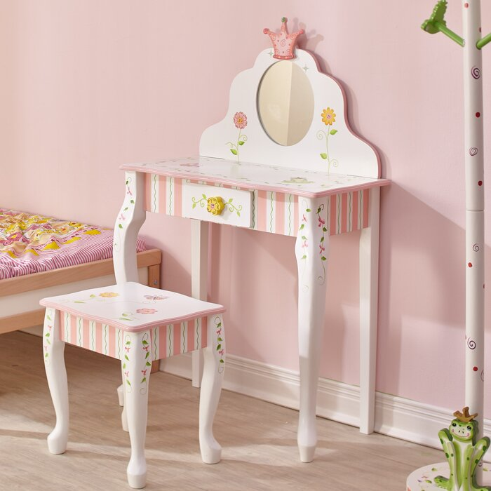 Princess Frog Vanity Set With Mirror