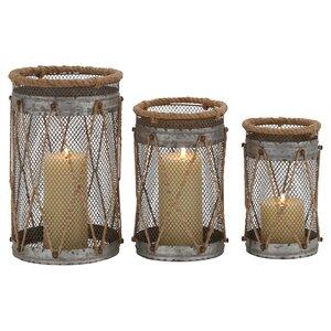 3-Piece Josephine Candle Lantern Set
