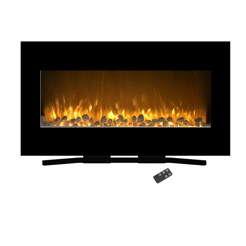 Northwest Flat Wall Mounted Electric Fireplace Reviews Wayfair