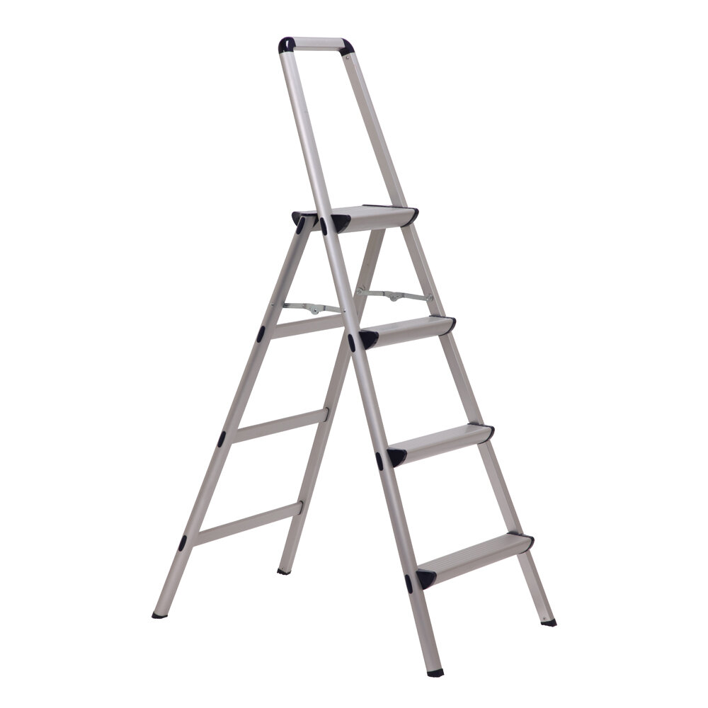 5.25 Ft Aluminum Ultra Step Ladder With 225 Lb. Load Capacity