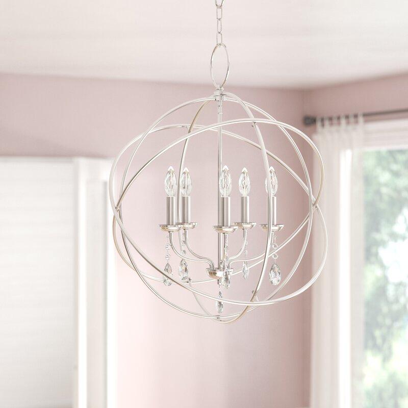 Auberta 5 Light Globe Chandelier