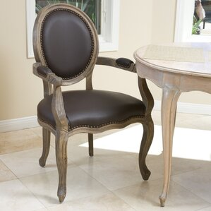 Reshad Leather Upholstered Dining Chair by Home Loft Concepts