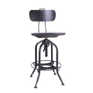 Desrochers Adjustable Height Swivel Bar Stool 2019 Online