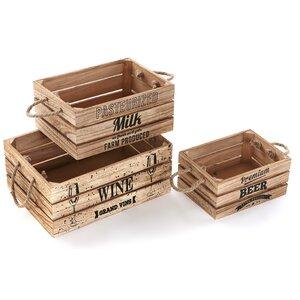 3-tlg. Boxen-Set aus Holz von Hokku Designs