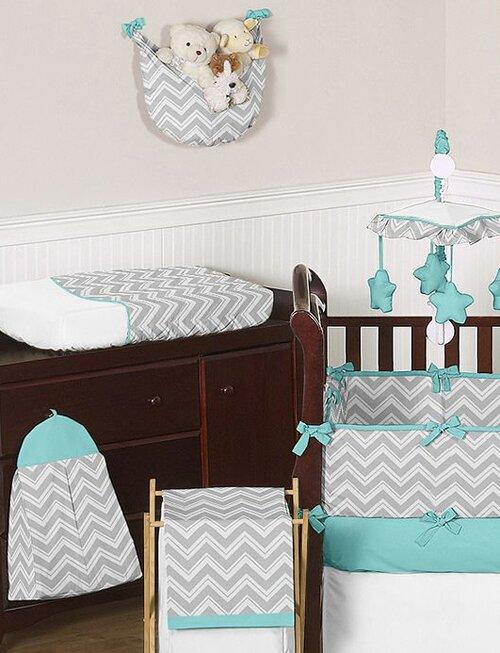 Sweet Jojo Designs Zig Zag  Piece Crib Bedding Set