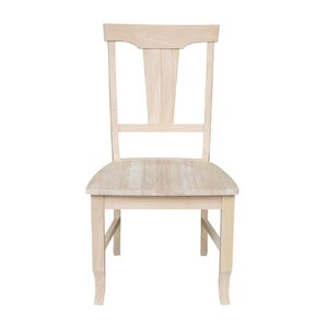 Panel Back Solid Wood Dining Chair (Set o..