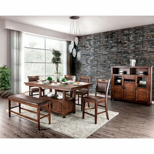 Ryant 6 Piece Counter Height Solid Wood Dining Set