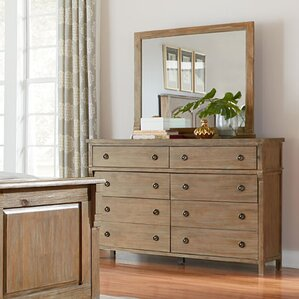 Grimaud 8 Drawer Double Dresser with Mirror by Lark Manor