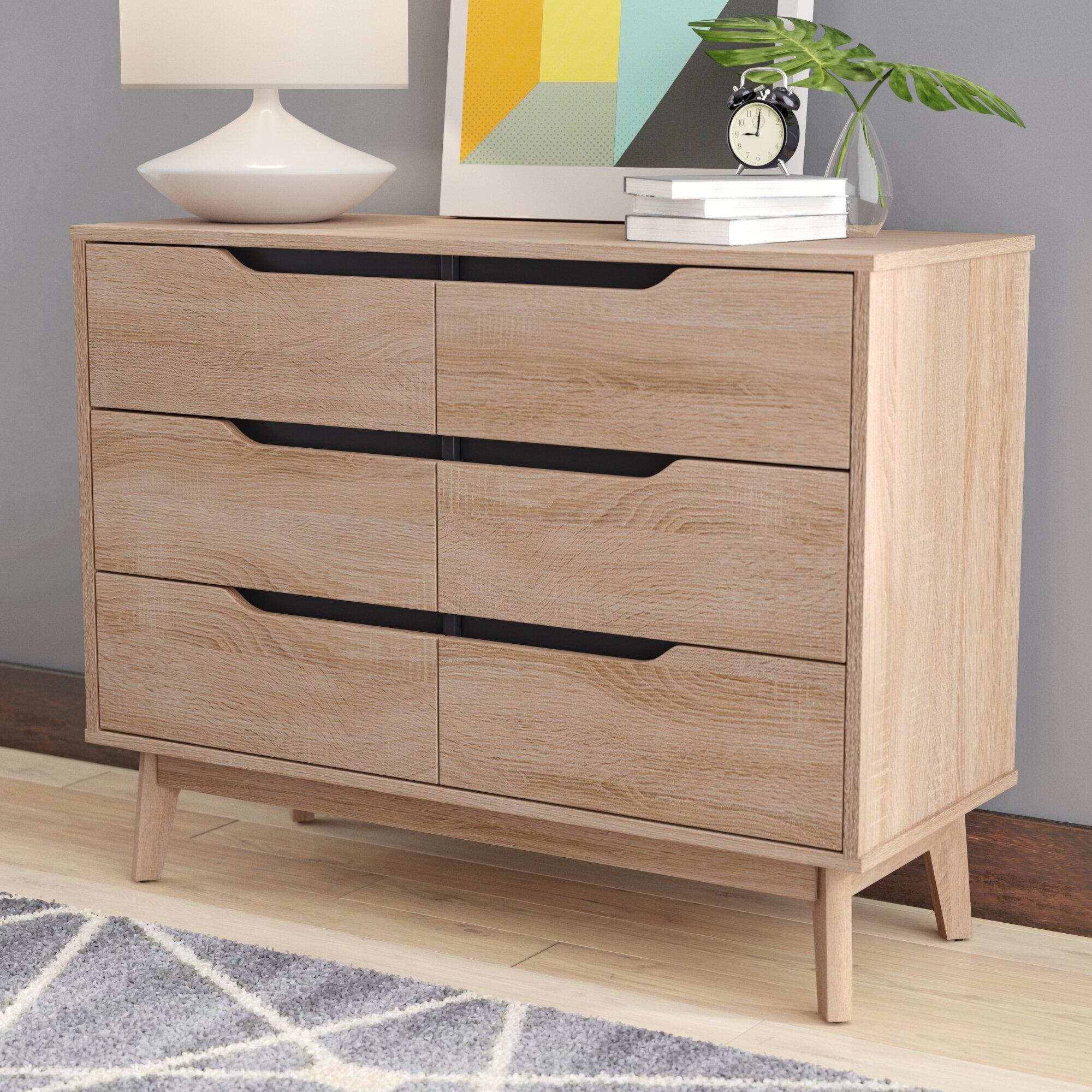 Langley street ezra modern 6 drawer standard dresser reviews wayfair