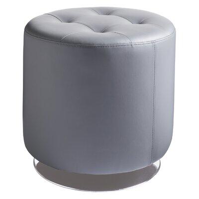 Wade Logan Brierfield Domani Swivel Ottoman Upholstery Color: Grey