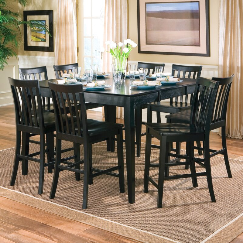 Red Barrel Studio Tamie Counter Height Extendable Dining Table