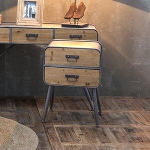 Nachttisch mit 2 Schubladen von Vical Home